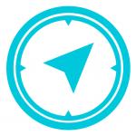 compass icon cyan